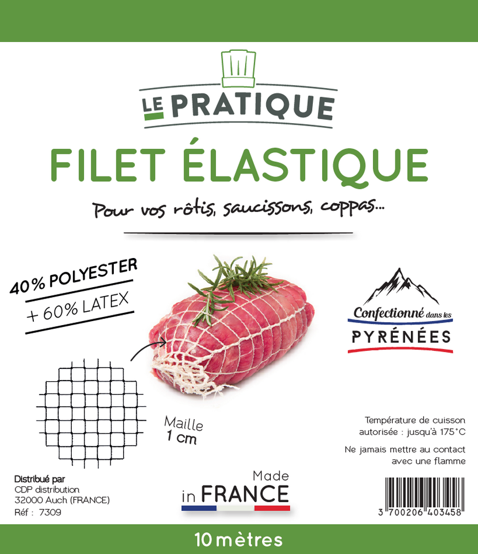 FILET ELASTIQUE Roti, saucisson… 10 m - LE PRATIQUE