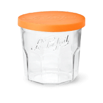 POT Confiture 324 ml couvercle PP orange sans paraffine - Pack 6 - LE PARFAIT